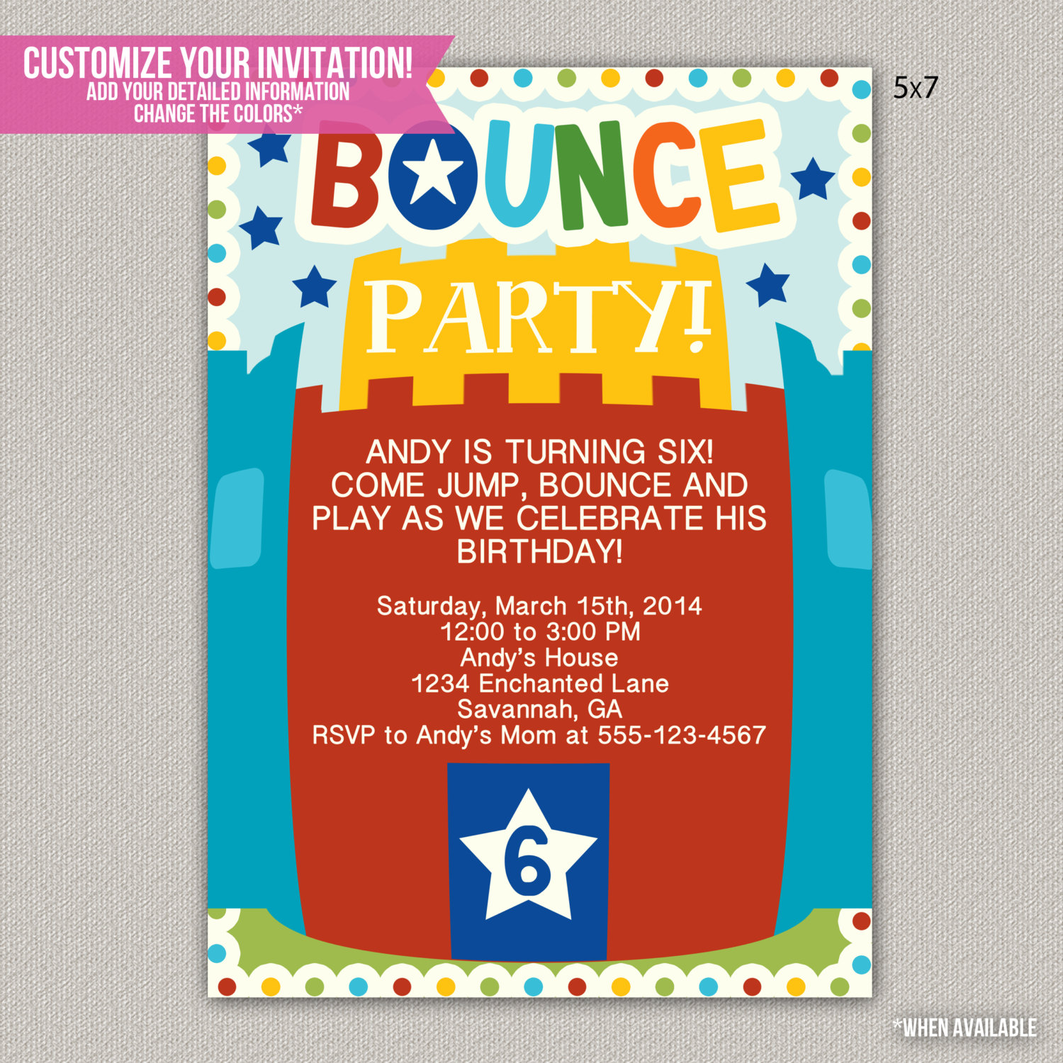 bounce birthday invitation wording ; original-bounce-house-party-invitation-templates-all-inexpensive-article