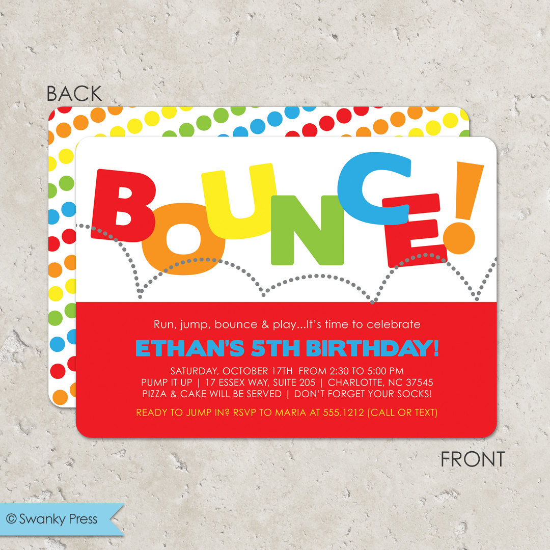 bounce house birthday party invitation wording ; il_fullxfull