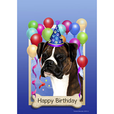 boxer dog happy birthday card ; boxer-brindle-uncropped-581