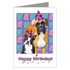 boxer dog happy birthday card ; boxer_dog_cards_20