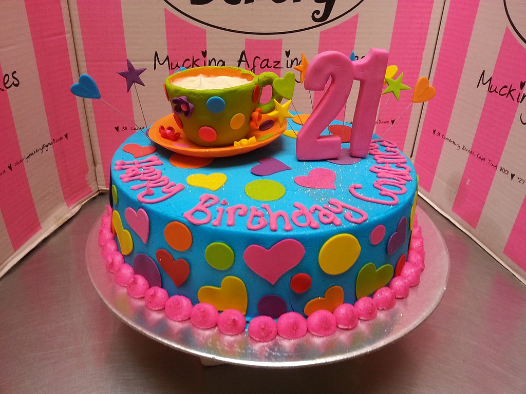 bright colored birthday cakes ; 13843760444_6f05f7d871_b