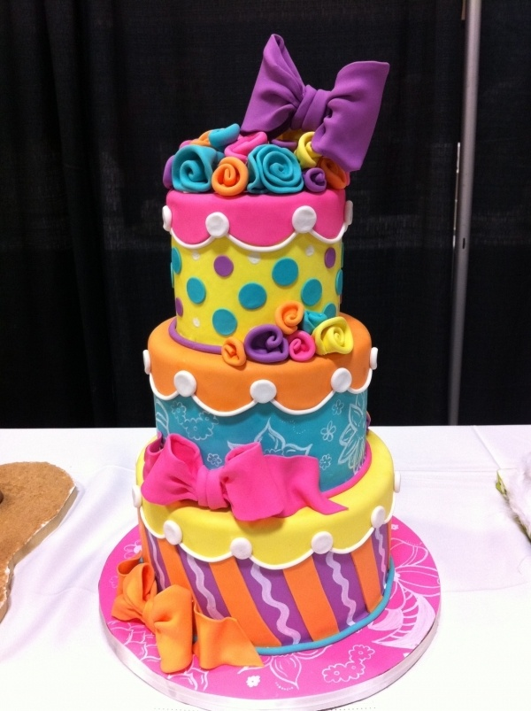 bright colored birthday cakes ; d129f81fccd83b2695e0292ca726d8ce--cute-cakes-awesome-cakes