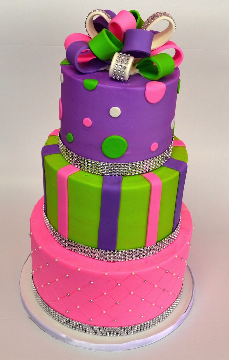 bright colored birthday cakes ; imageDrop_4472
