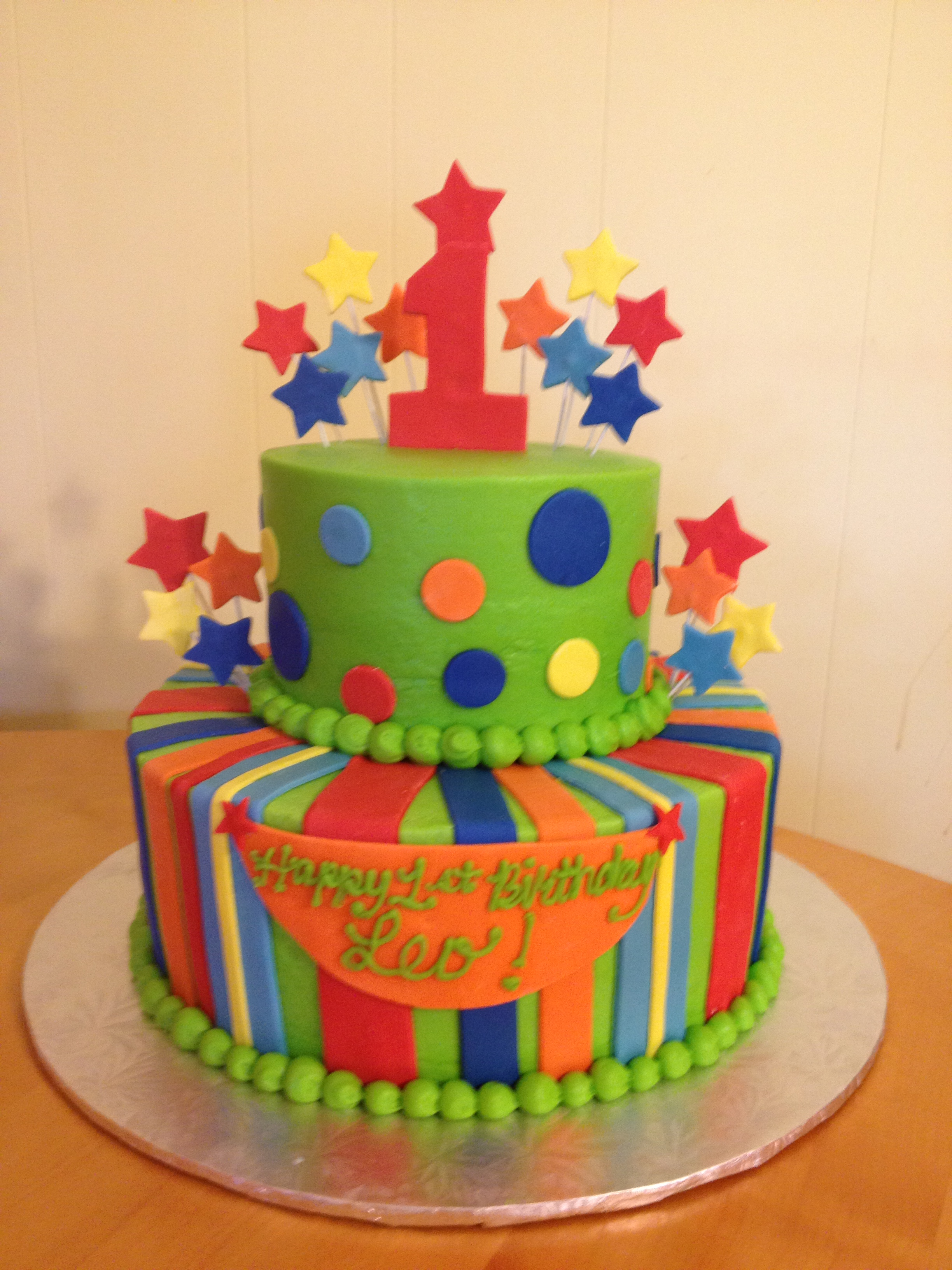 bright colored birthday cakes ; img_1578
