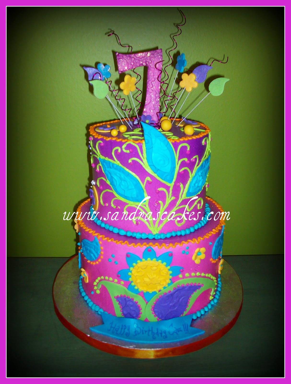 bright colored birthday cakes ; wizards