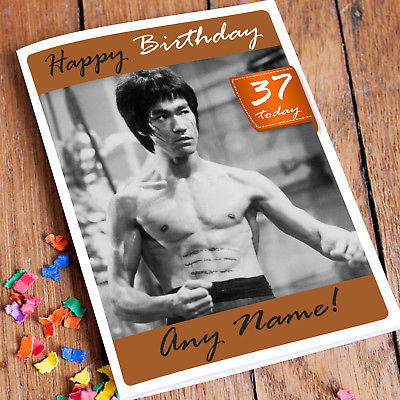 bruce lee happy birthday card ; BRUCE-LEE-Personalised-Birthday-Card-Enter-The
