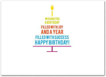 business birthday cards ; B558in
