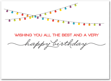 business birthday cards ; B594in