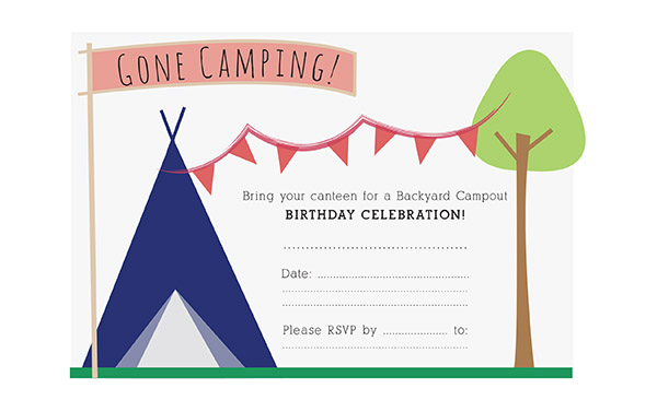 camping birthday party invitation ideas ; Camping-Birthday-Party-Invitations-with-the-appropriate-color-selection-of-ink-and-color-of-paper-will-make-it-beter-1