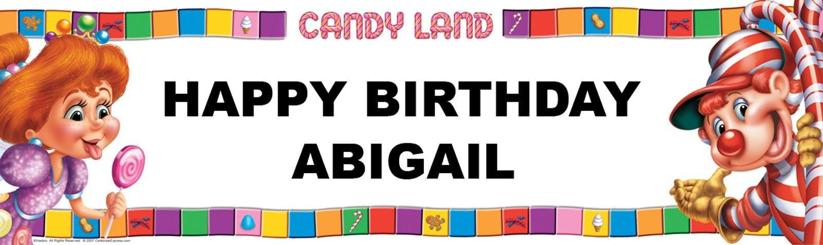 candyland birthday banners personalized ; 19ff6cf3e080818c644c8e73eaeaf36c