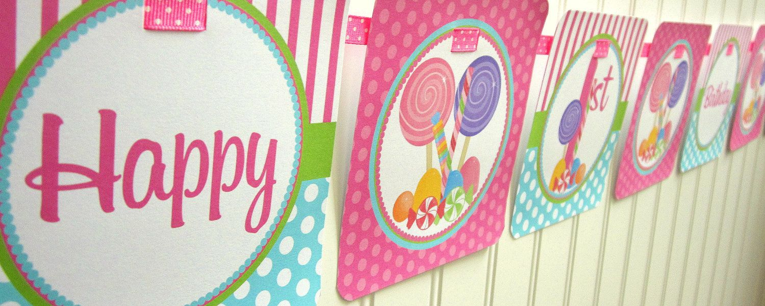 candyland birthday banners personalized ; 1a503ee71850d866f0d36efa65338360