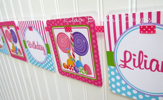 candyland birthday banners personalized ; 748cf38c5450573b482b9c2726e57aad