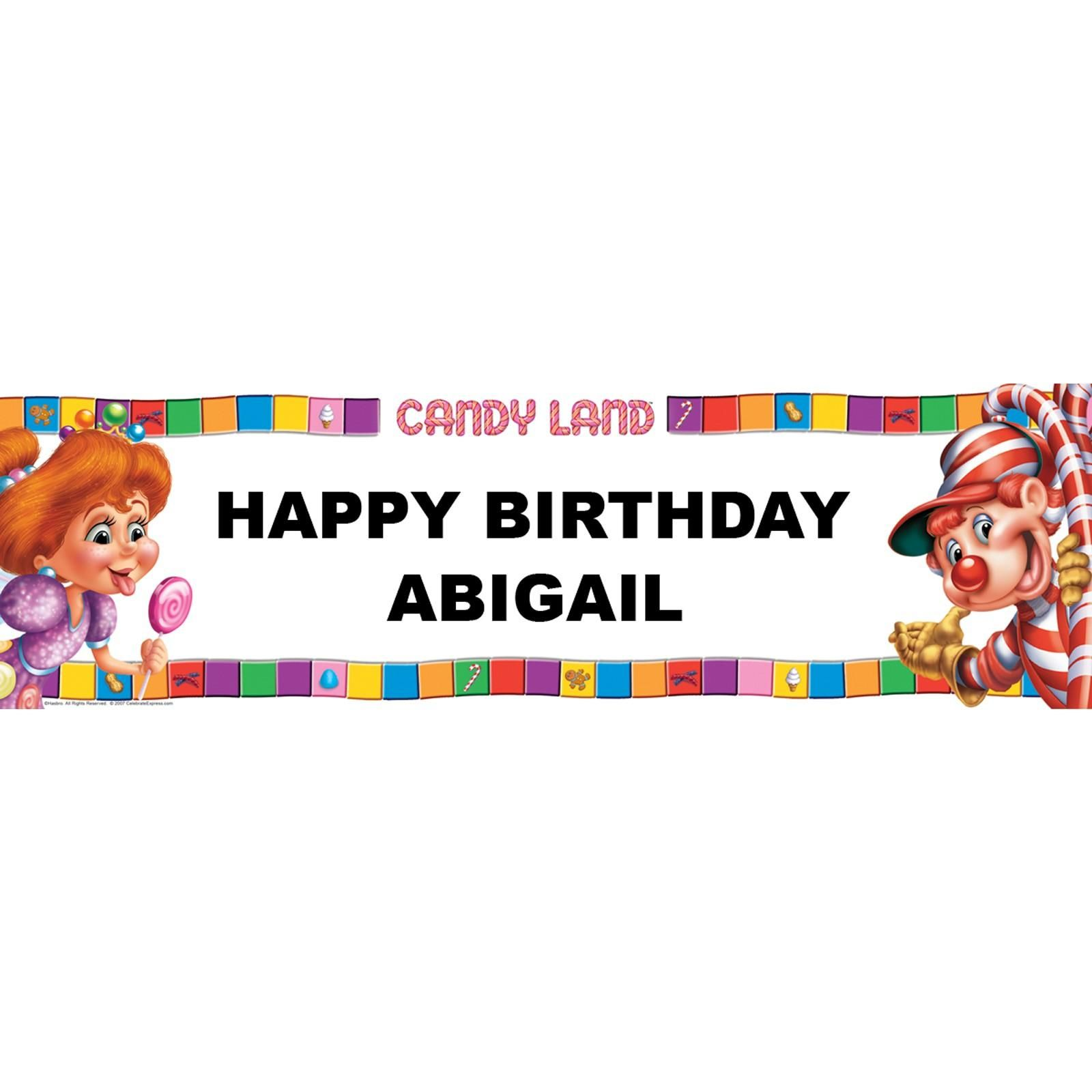 candyland birthday banners personalized ; 905edfd110aff062321775d887a0637b