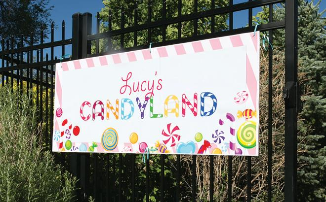 candyland birthday banners personalized ; Candyland-12