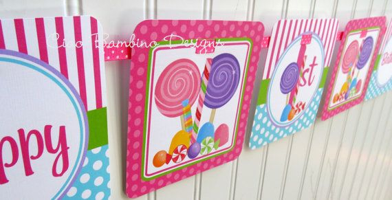 candyland birthday banners personalized ; aa075390a21d04b2c3ab0e7903b4240b