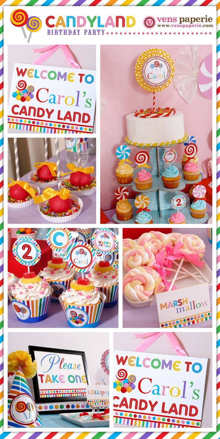 candyland birthday banners personalized ; c33ef67e3b766b59db147c630a100312