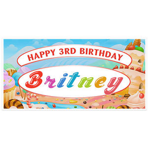 candyland birthday banners personalized ; s-l300