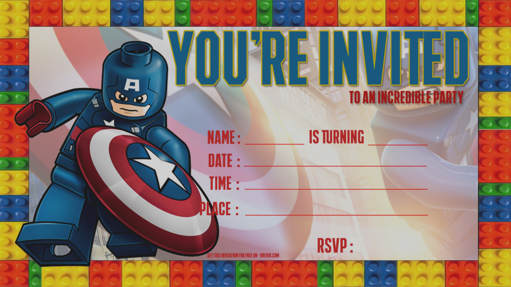 captain america birthday card template ; amazing-of-lego-birthday-party-invitations-template-free-lego-captain-america-invitation-drevio
