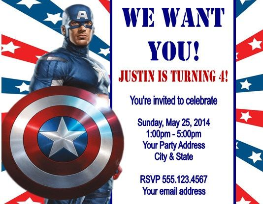 captain america birthday card template ; captain-america-birthday-invitations-by-means-of-creating-chic-outlooks-around-your-Birthday-Invitation-Templates-5