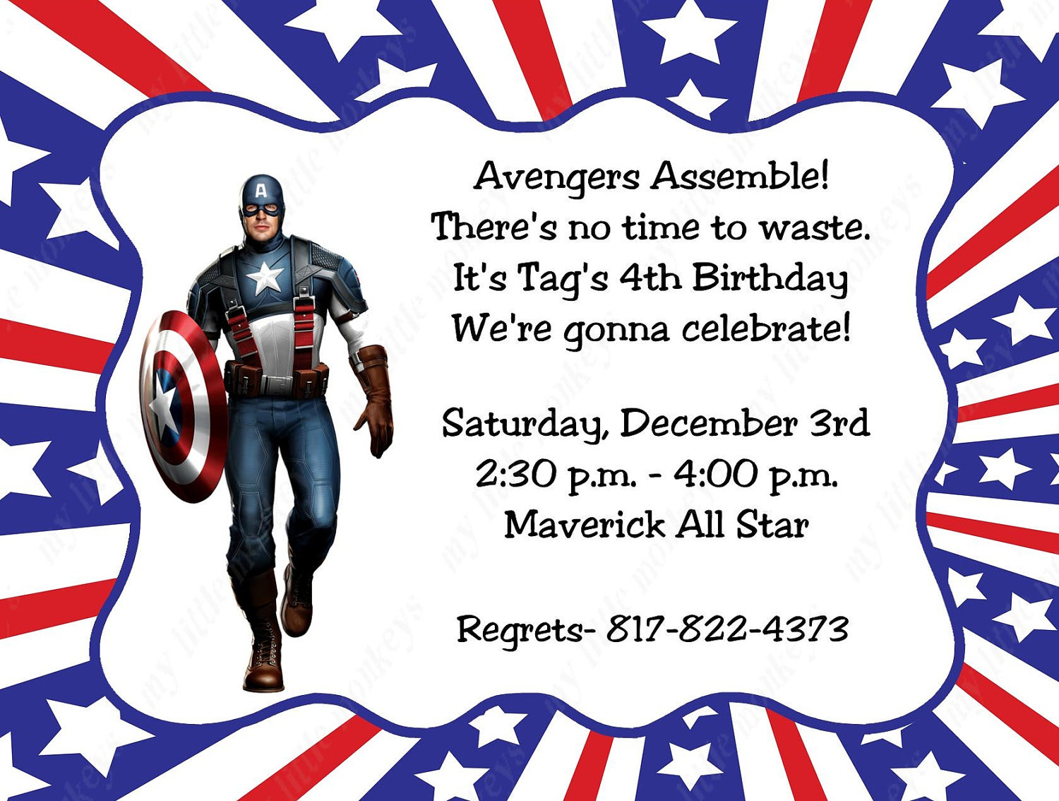 captain america birthday card template ; captain-america-birthday-invitations-by-way-of-using-an-impressive-design-concept-for-your-interesting-Baby-Shower-Invitation-Templates-3