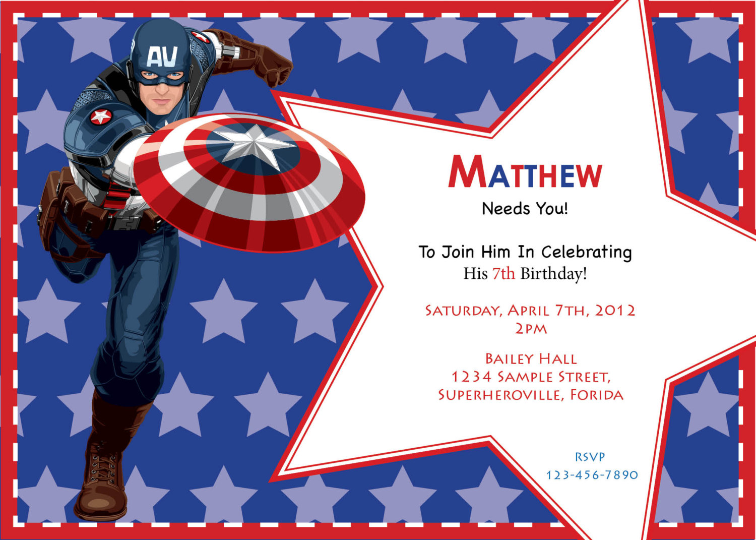captain america birthday card template ; captain-america-birthday-invitations-together-with-a-picturesque-view-of-your-Birthday-Invitation-Templates-using-outstanding-invitations-7