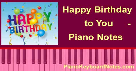 casio notes of happy birthday ; happy-birthday-to-you-piano-notes