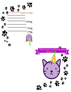 cat birthday invitation templates ; b7daaeecb8cc6ebcf24d8200f8f44e4e--cat-birthday-birthday-cards