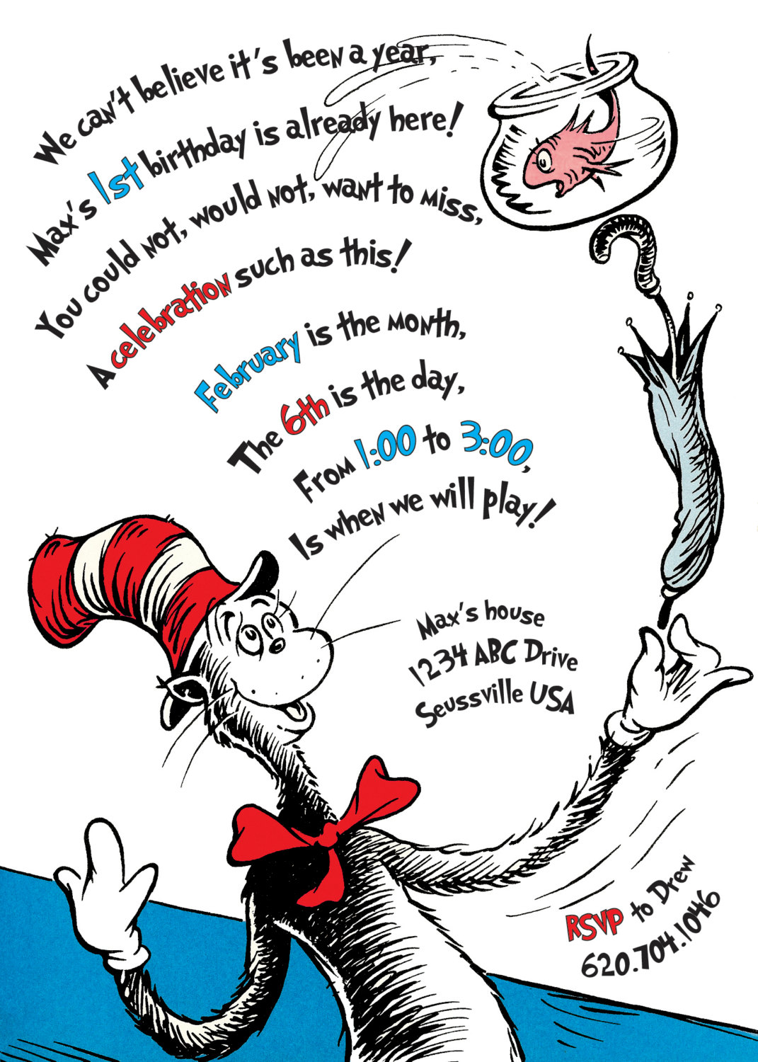 cat in the hat birthday poem ; Cat-in-the-hat-birthday-invitations-is-one-of-the-best-idea-for-you-to-make-your-own-birthday-invitation-design-1