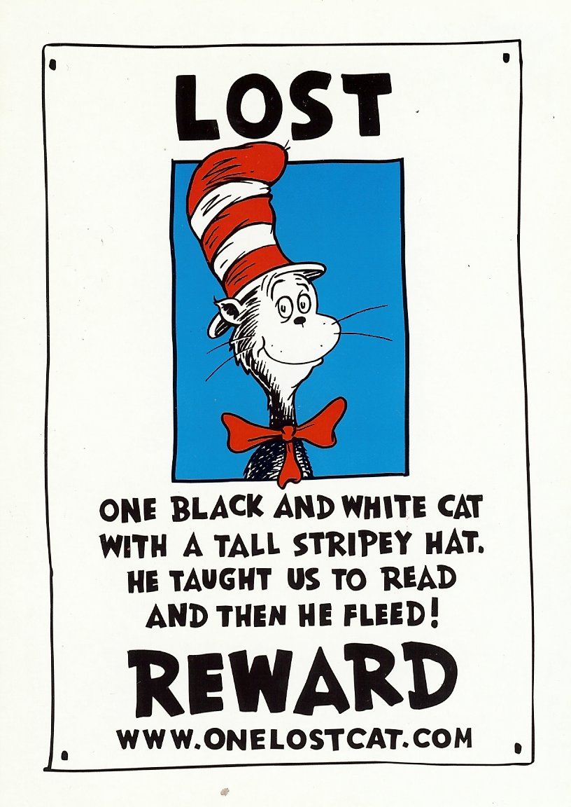 cat in the hat birthday poem ; scan1451