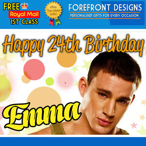 channing tatum birthday greeting ; s-l300