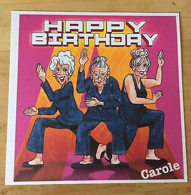 charlie's angels birthday card ; Handmade-Personalised-Funny-Witty-Charlies-Angels-Birthday-Card