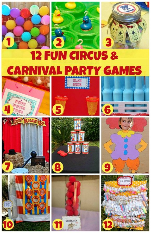 children's games birthday party ideas ; 072a55f7747d591bb10a2c0493fc8489--kids-carnival-circus-carnival-party