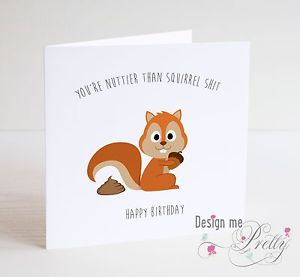 chipmunk birthday card ; s-l300-1