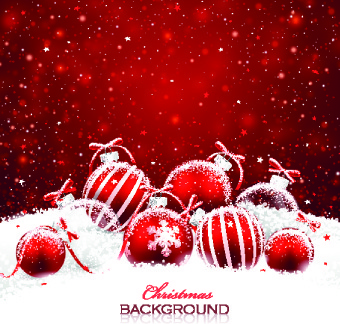 christmas birthday background ; beautiful_christmas_red_background_vector_540261