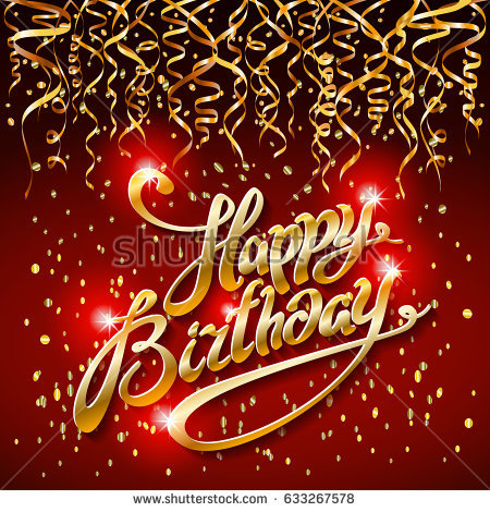 christmas birthday background ; stock-photo-concept-party-on-dark-background-top-view-happy-birthday-gold-confetti-modern-flat-design-style-633267578