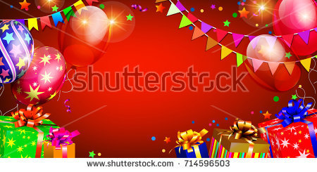 christmas birthday background ; stock-vector-merry-birthday-background-714596503
