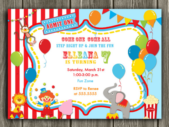 circus birthday invitation template free ; circus-birthday-invitations-by-means-of-creating-stunning-outlooks-around-your-Birthday-Invitation-Templates-4
