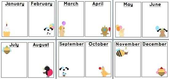 classroom birthday chart template ; bday5