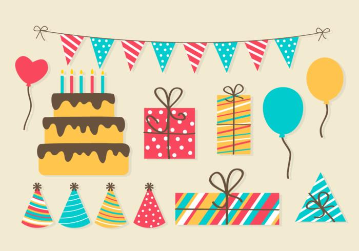 clip art free birthday party ; free-birthday-party-elements-vector