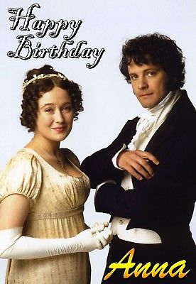 colin firth birthday card ; PRIDE-PREJUDICE-COLIN-FIRTH-JENNIFER-EHLE-Personalised