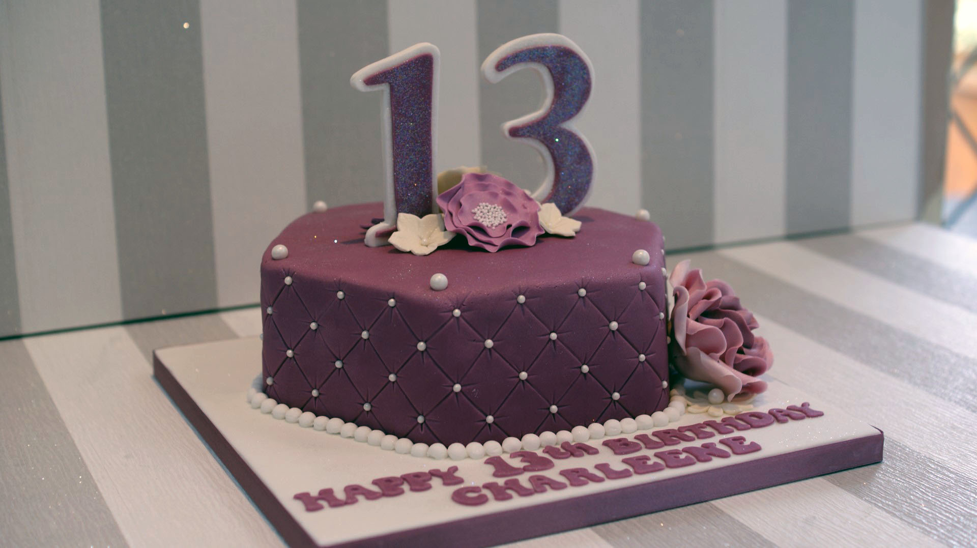 color combinations for birthday cakes ; 13-birthday-cake-pretty-13th-birthday-cake-bakealous-purple-and-white-color-combination-design-ideas-for-cake-birthday-2016