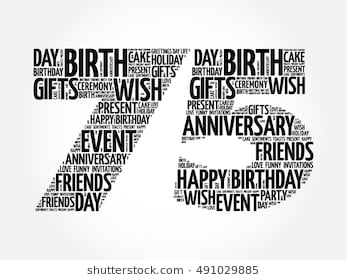 color motif for 75th birthday ; happy-75th-birthday-word-cloud-260nw-491029885