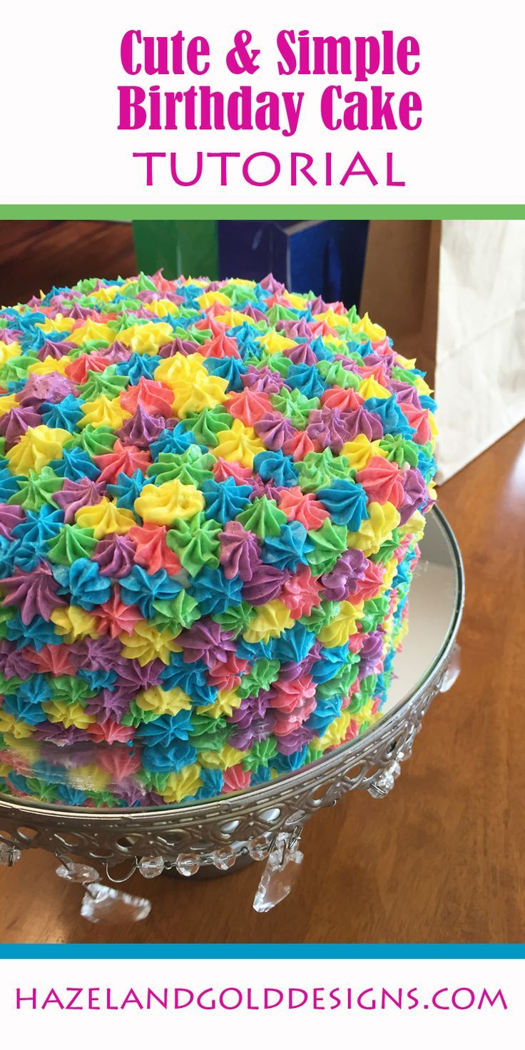 colorful birthday cakes for girls ; 2ddfbe80a2db88e23df7ec2d8ffd5576