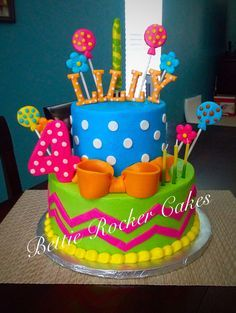 colorful birthday cakes for girls ; 5a2e29c2b640cf0a49c0c919353b9bea