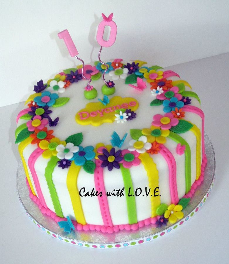 colorful birthday cakes for girls ; 74421c9f7f072c99a76095a7c1e9c6da