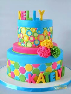 colorful birthday cakes for girls ; b5c0830afb05287f02e6b635ca49d038--bright-cakes-colorful-cakes