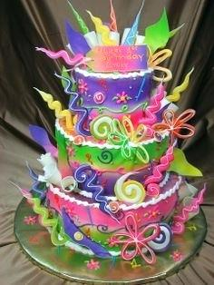 colorful birthday cakes for girls ; colorful-birthday-cakes-for-girls-colorful-teen-birthday-cakes