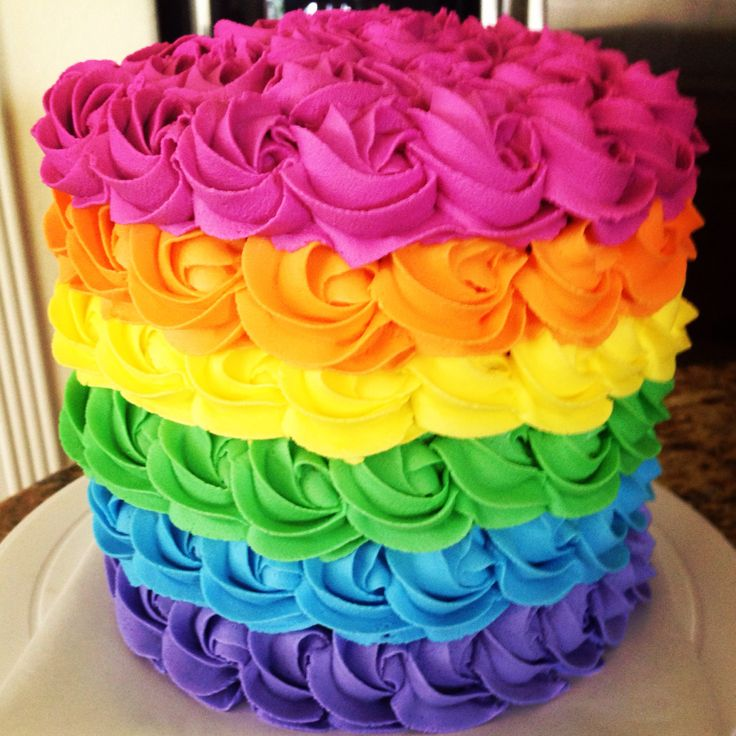 colorful birthday cakes for girls ; colorful-birthday-cakes-icing-birthday-fun-birthday-parties-colorful-cakes-cake-ideas-cake-best