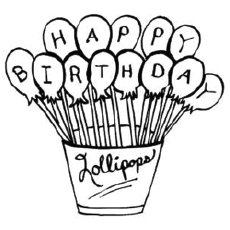 colouring pages for birthday ; The-Birthday-Lollipops