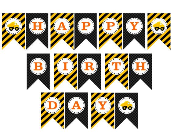 construction birthday banner printable ; 79f232a6c6acc3ed0cc3c11867f5b95c--printable-birthday-banner-birthday-banners